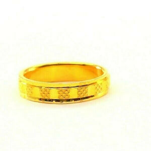 "22k 22ct Solid Gold ELEGANT Charm Ladies Simple Ring SIZE 6.5 ""RESIZABLE"" r2378"