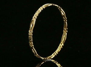 22k Bangle Solid Gold ELEGANT Children Simple Bangle Size 1.6 inch CB1215 | Royal Dubai Jewellers