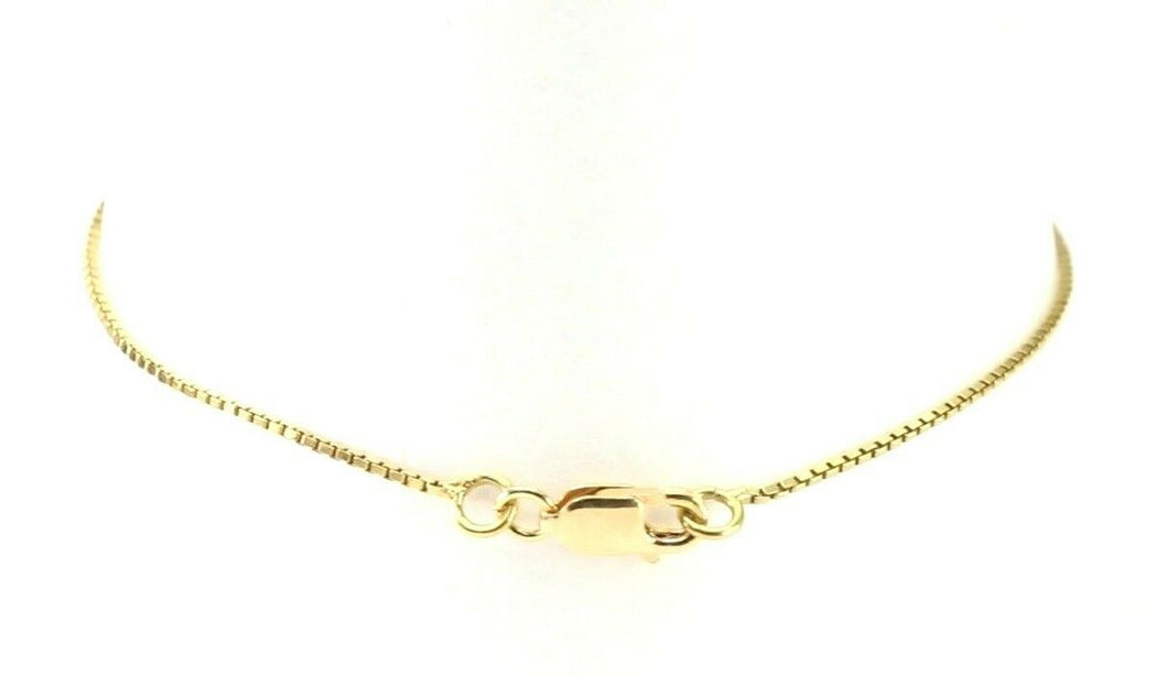 22k Bracelet Solid Gold Simple Dazzling Box Link Modern Design B4201