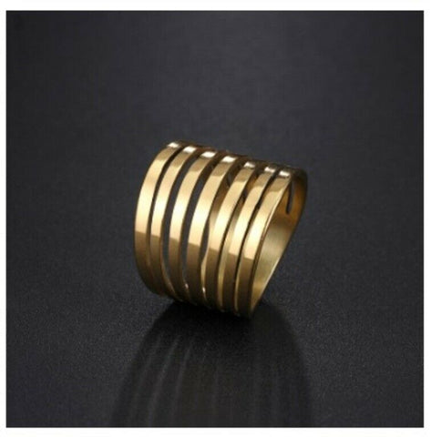 Solid Gold Ring Simple Multi Twist Designer With High Polish Design SM4
