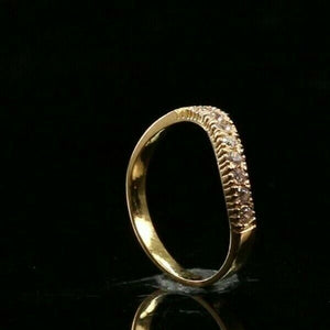 "22k Ring Solid Gold ELEGANT Charm Ladies Simple Ring SIZE 8.25 ""RESIZABLE"" r2683"