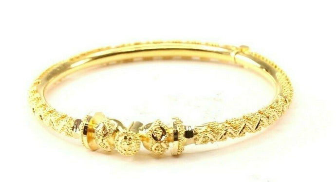 22k Children Bangle Solid Gold Simple Charm Classic Kada Design cb1258