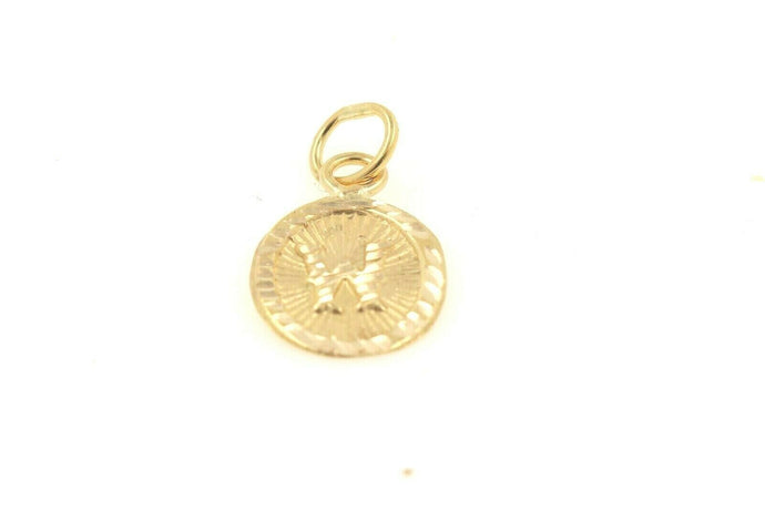 22k 22ct Solid Gold Charm Letter W Pendant Oval Design p1136 ns | Royal Dubai Jewellers