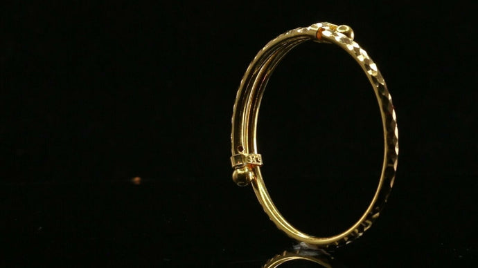 22k 22ct Solid Gold ELEGANT Children Bangle Simple Design Size 1.6 inch CB1209 | Royal Dubai Jewellers