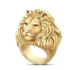 Solid Gold Ring Men Lion King Of The Jungle Design SM31