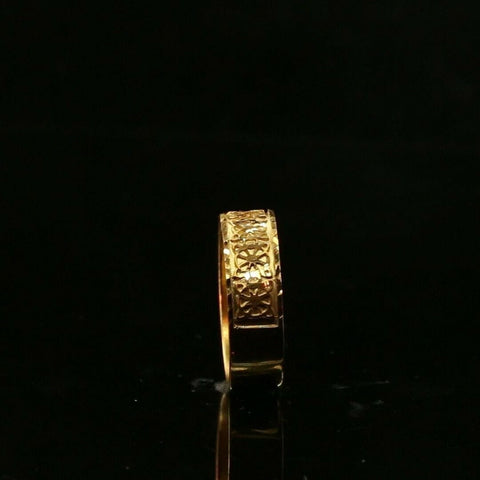 22ct 22k Solid Gold Elegant Geometric Design Ladies Ring Size R2068zmon | Royal Dubai Jewellers