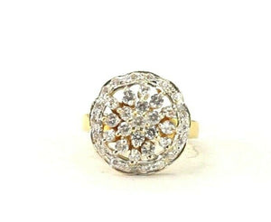 "22k Ring Solid Gold ELEGANT Charm Simple Stone Ring SIZE 5.25 ""RESIZABLE"" r2955"