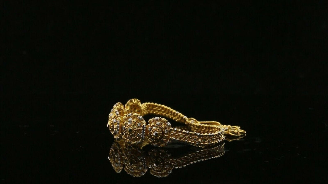 22k 22ct Jewelry Solid Gold Elegant Charm Antique BRACELET  LENGTH 7 inch B968 | Royal Dubai Jewellers