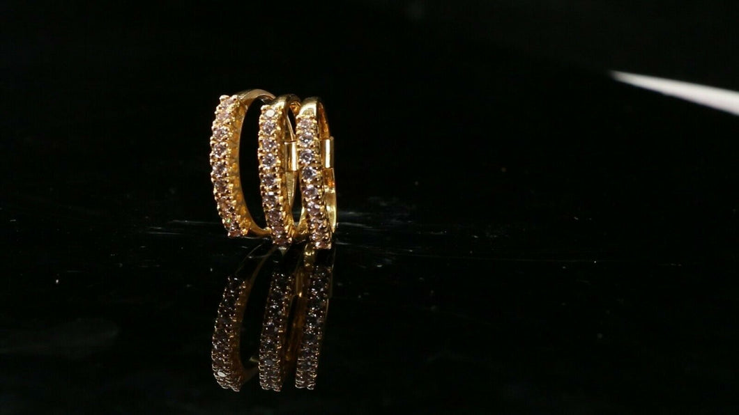 22k Ring Solid Gold ELEGANT Charm Ladies Simple Ring SIZE 4.25