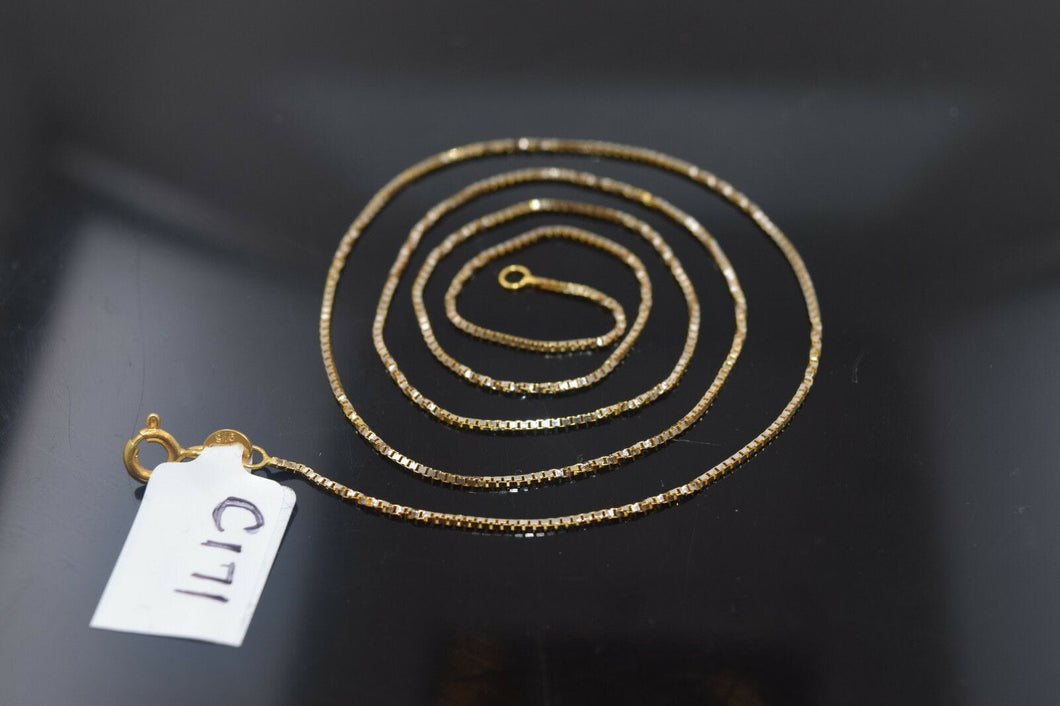 22k Jewelry Yellow Solid Gold Chain Necklace Elegant Modern Rope Design c171 | Royal Dubai Jewellers
