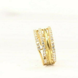 "22k Ring Solid Gold ELEGANT Charm Ladies Loop Band  SIZE 7 ""RESIZABLE"" r2136"