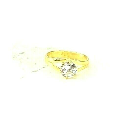 22k Ring Solid Gold ELEGANT Charm Simple Kids Ring SIZE 0.5