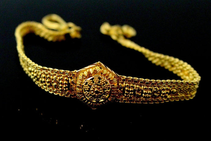 22k 22ct SOLID GOLD ELEGANT  FINISH  LADIES DESIGNER BRACELETS B821 | Royal Dubai Jewellers