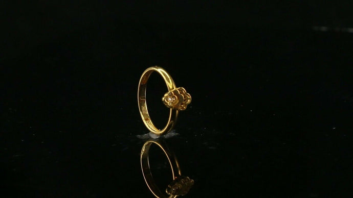 22k 22ct Solid Gold ELEGANT Charm Ladies Simple Ring SIZE 4