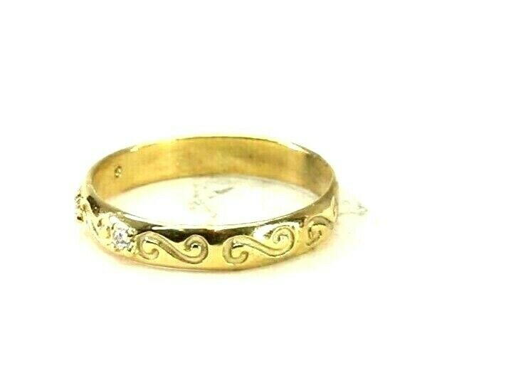 22k Ring Solid Gold ELEGANT Charm Ladies Band SIZE 7.75