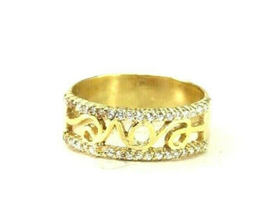"22k Ring Solid Gold ELEGANT Charm Ladies Band SIZE 7.5 ""RESIZABLE"" r2927mon"