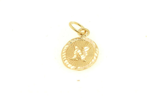 22k 22ct Solid Gold Charm Letter N Pendant Oval Design p1133 ns | Royal Dubai Jewellers