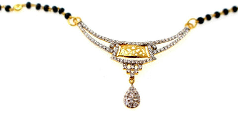 22k 22ct Yellow Solid Gold Chain BLACK BEADED  MANGALSUTRA CHAIN NECKLACE c866 | Royal Dubai Jewellers