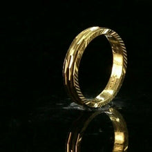 "22k Ring Solid Gold ELEGANT Charm Simple Ring SIZE 5.75 ""RESIZABLE"" r2838"