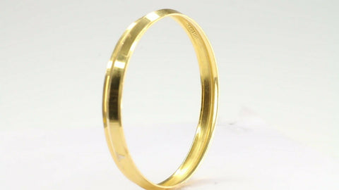 22k 22ct Solid Gold ELEGANT Children Bangle Simple Design Size 2.3 inch CB1214