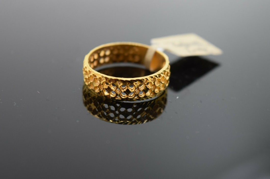 22k Ring Solid Gold ELEGANT Charm Ladies Band SIZE 7.25