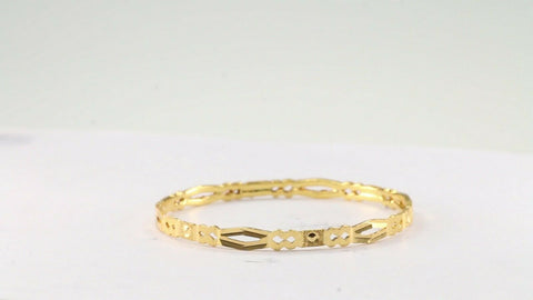 22k 22ct Solid Gold ELEGANT Children Bangle Simple Design Size 1.8 inch CB1213