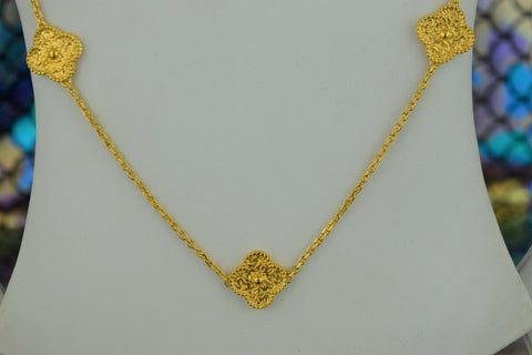 21k Chain Solid Gold Ladies Elegant Snake And Beads with Charms Design C3561 - Royal Dubai Jewellers