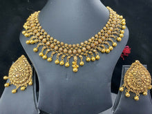 22k Necklace Set Beautiful Solid Gold Ladies Traditional Filigree Design LS992