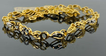 22k Bracelet Solid Gold Ladies Jewelry Simple Two Tone Geometric Pattern B294 - Royal Dubai Jewellers