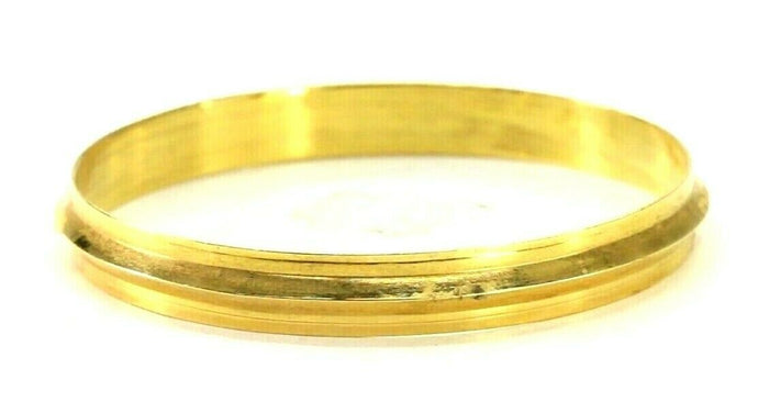 22k Bangle Solid Gold Simple Children Plain High Polished Kara Bangle CB1300