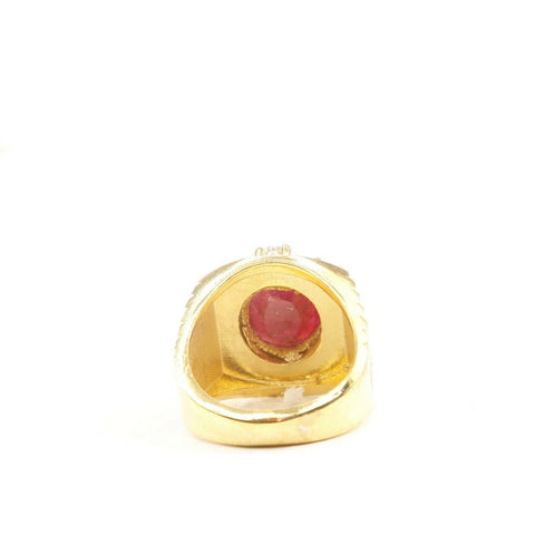 "22k Solid Gold ELEGANT Charm Ladies Stone Ring SIZE 7-1/2 ""RESIZABLE"" r2181 - Royal Dubai Jewellers"