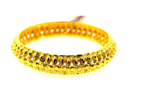 22k Solid Gold Ladies Bangle Classic Traditional Filigree Design br146
