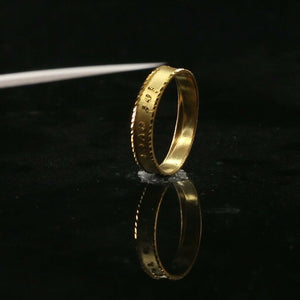 "22k Ring Solid Gold ELEGANT Charm Ladies Forever Band SIZE 7.5 ""RESIZABLE"" r2339"