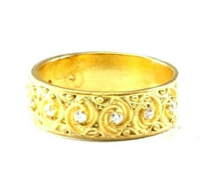 "22k Ring Solid Gold ELEGANT Charm Ladies Band SIZE 7.25 ""RESIZABLE"" r2587mon"