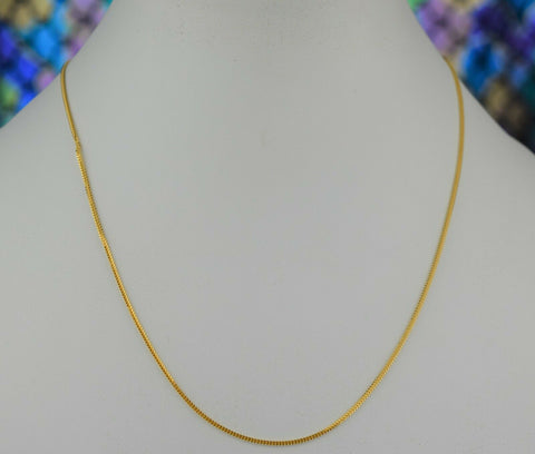 22k Chain Solid Gold Simple Elegant V Shape Link Design C3494 - Royal Dubai Jewellers