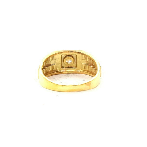 22k Ring Solid Gold Elegant Mens Diamond Cuts Cubic Stone Ring Size R2049 mon
