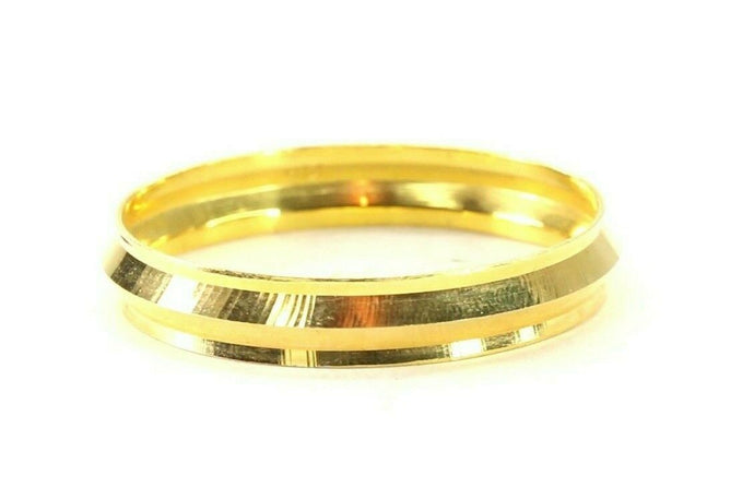 22k Bangle Solid Gold Simple Children Plain High Polished Kara Bangle cb1333