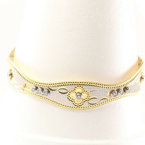 22k Bangle Solid Gold Exquisite Charm Dancing Banlge Design Size 2.5 inch B1156