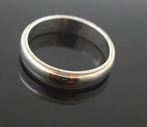 "18k 18ct Solid WHITE GOLD PLAIN UNISEX Ring BAND ""RESIZABLE"" size 10.5 r791"