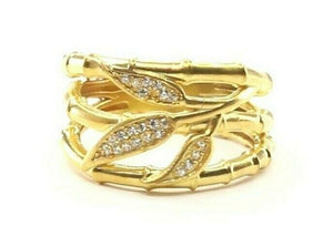 "22k Ring Solid Gold ELEGANT Charm Ladies Floral Band SIZE 7.5 ""RESIZABLE"" r2334z"