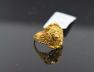 22k Ring Solid Gold Ring Children's Jewelry Filigree Design R2445z - Royal Dubai Jewellers