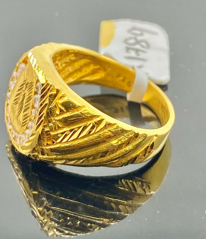 22k Ring Solid Gold Men Jewelry Classic Horse Shoe Design R1789