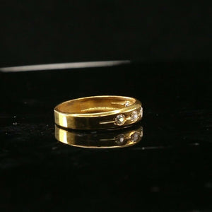 "22k Ring Solid Gold ELEGANT Charm Ladies Channel Band SIZE10.5 ""RESIZABLE"" r2138"