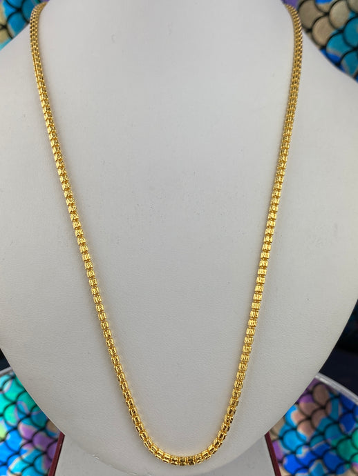 22k Chain Solid Gold Men with Infinity Beads Design C0404 - Royal Dubai Jewellers
