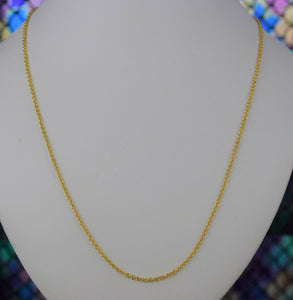 22k Chain Solid Gold Simple Elegant Cable Link Design C3444