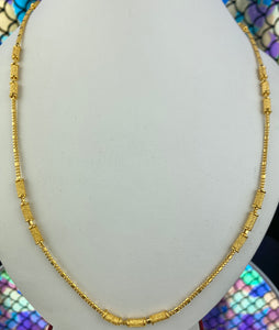 22k Chain Solid Gold Ladies Snacks and Beads Design C0295 - Royal Dubai Jewellers