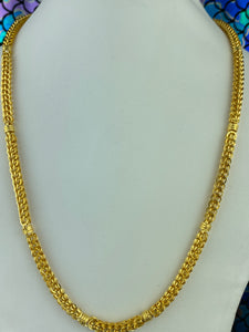 22k Chain Solid Gold Men Jewelry Simple Byzantine Design C0239 - Royal Dubai Jewellers