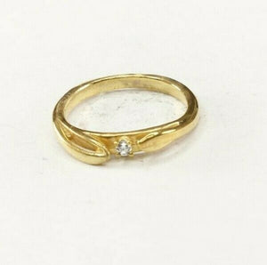 "22k Ring Solid Gold ELEGANT Charm Simple Band SIZE 5.50 ""RESIZABLE"" r2444"