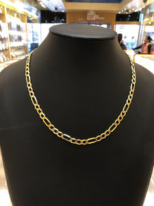22k Solid Gold Mens Modern Curb Link Chain