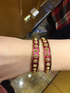 22k 22ct Solid Gold ELEGANT Luxurious Ladies Bangle Modern Design Enamel b999 | Royal Dubai Jewellers